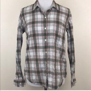 Gap The Fitted Boyfriend Plaid Button Down Shirt